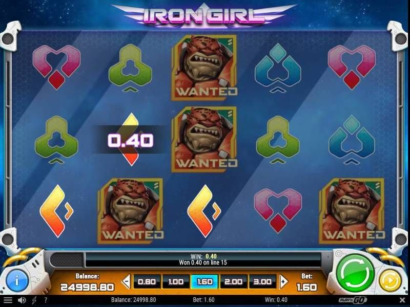 Iron Girl Play'n GO Slot Slot Reels