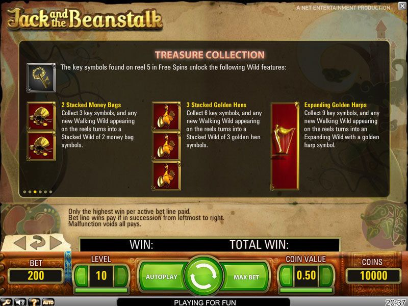 Jack And The Beanstalk Slot Netent Free Spins