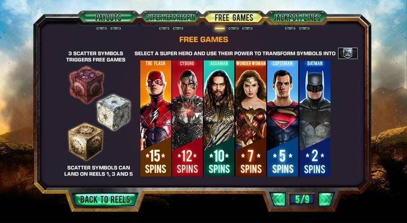 Justice League PlayTech Slot Bonus 1
