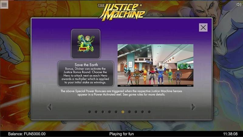 Justice Machine 1x2 Gaming Slot Bonus 1
