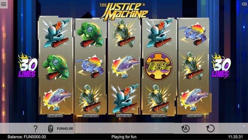 Justice Machine 1x2 Gaming Slot Slot Reels