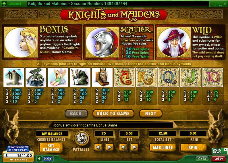 Knights & Maidens Slots - Play Free 888 Slot Machines Online