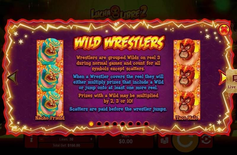 Lucha Libre 2 RTG Slot Stacked Wilds Info