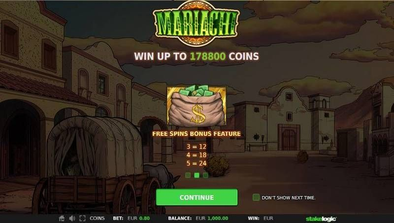 Mariachi StakeLogic Slot Free Spins Feature