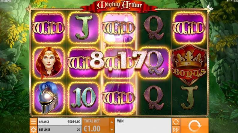 Mighty Arthur Quickspin Slot