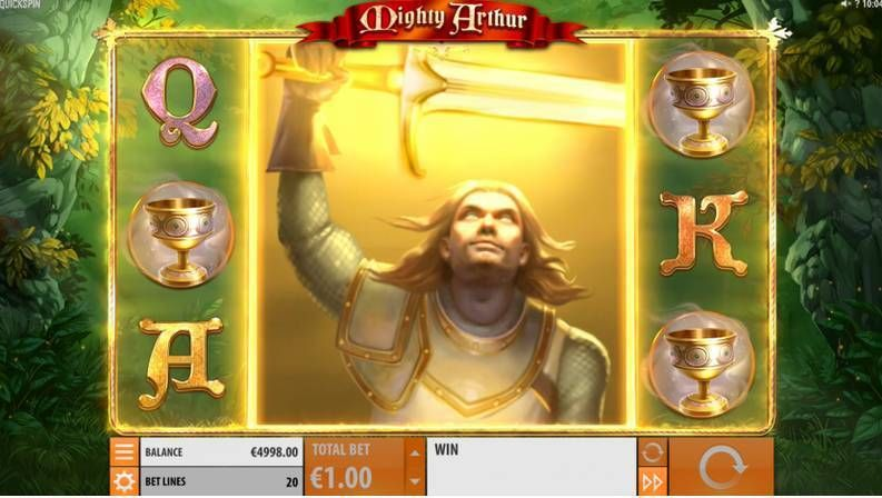 Mighty Arthur Quickspin Slot Bonus 1