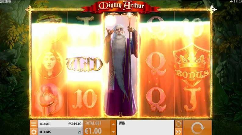 Mighty Arthur Quickspin Slot Bonus 2