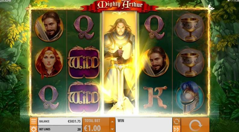 Mighty Arthur Quickspin Slot Bonus 3
