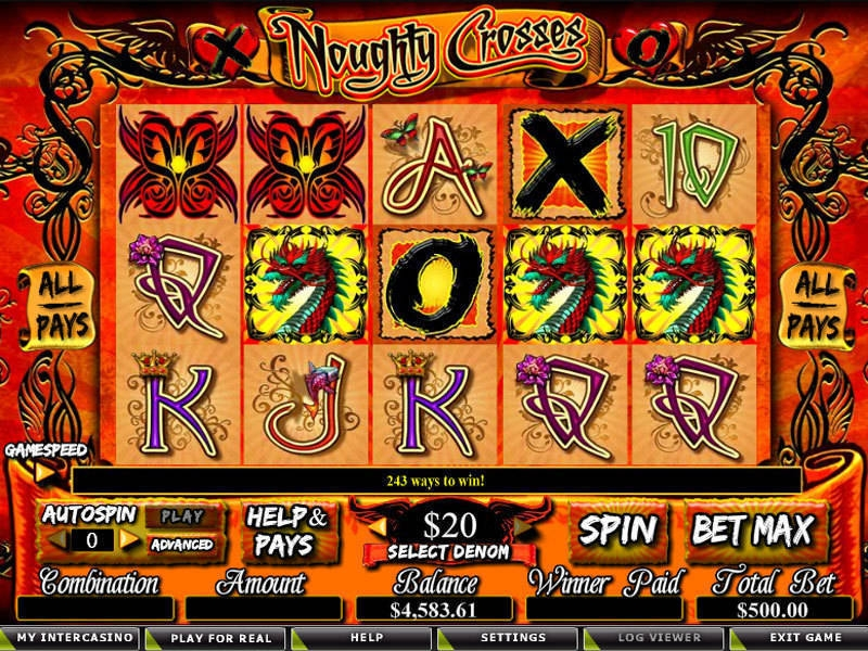 Noughty Crosses Slot - Free to Play Online Demo Game