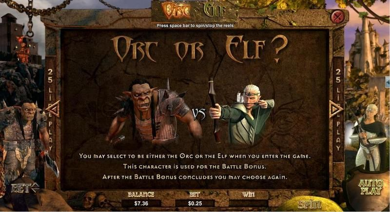 Orc vs Elf RTG Slot Info