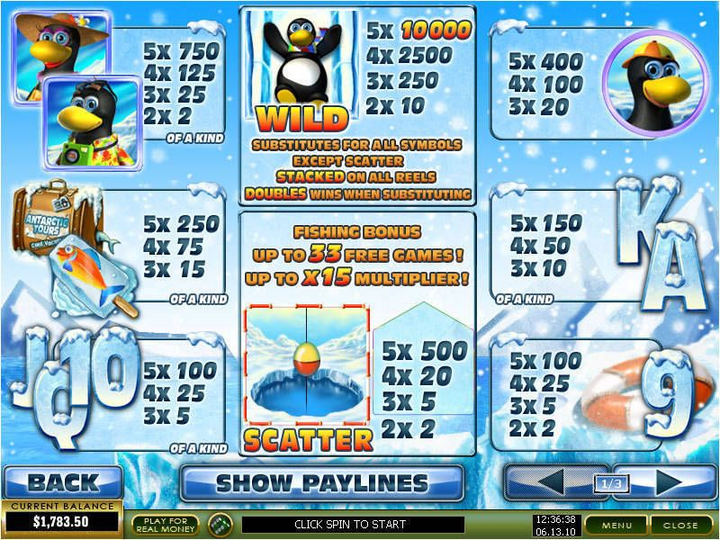 Penguin Vacation™ Slot Machine Game to Play Free in Playtechs Online Casinos