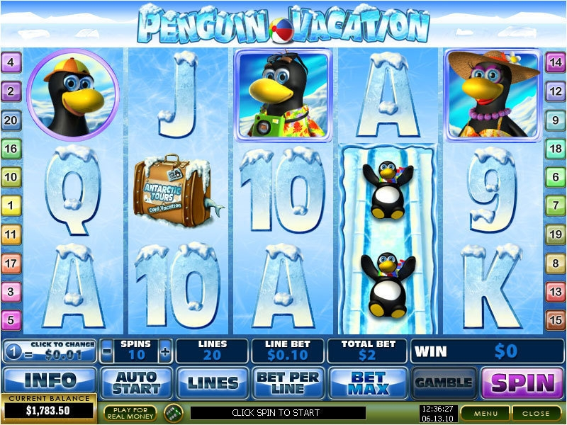Penguin Vacation Slots - Play this Video Slot Online