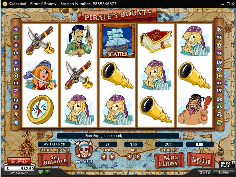 Pirate's Bounty Slots - Free to Play Online Casino Game