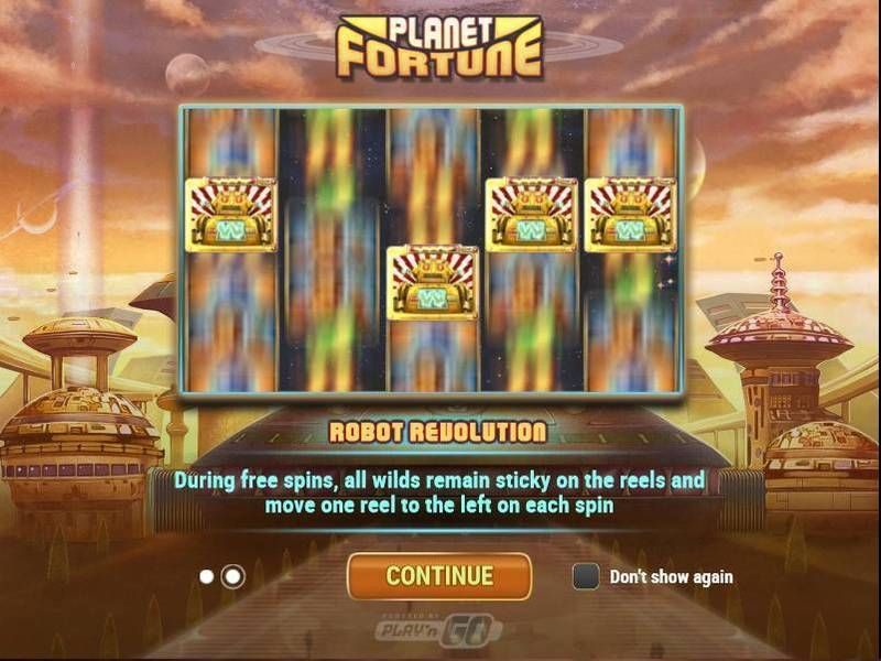 Planet Fortune Play'n GO Slot Bonus 1