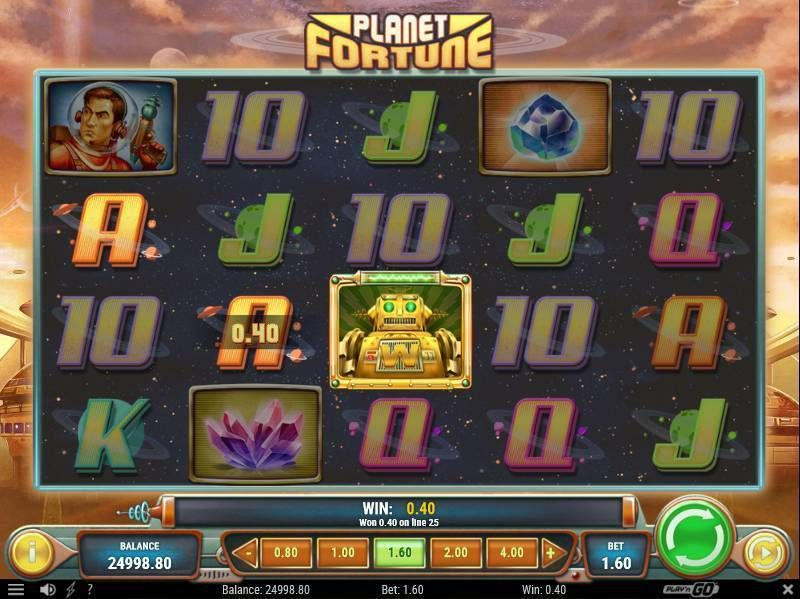 Planet Fortune Play'n GO Slot Slot Reels