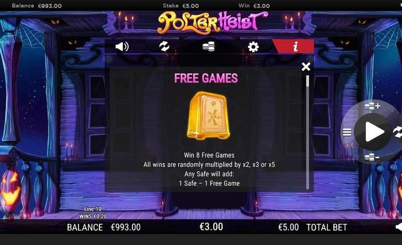 Polterheist NextGen Gaming Slot Free Spins Feature