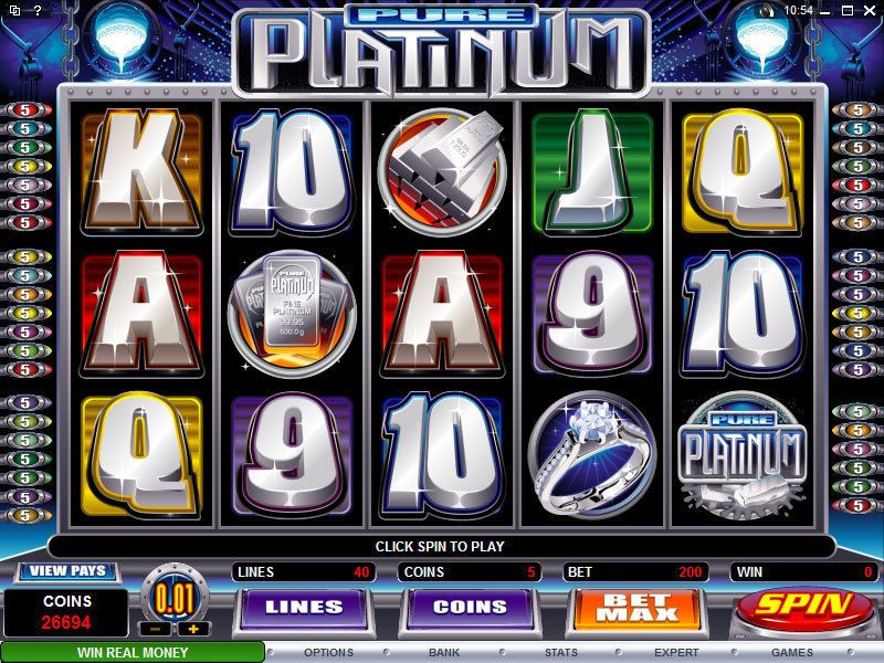 Pure Platinum Slot Machine – A Free to Play Microgaming Game