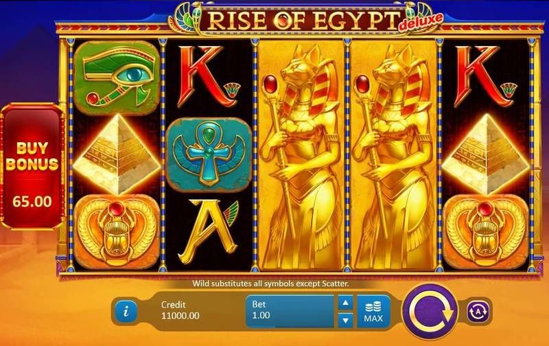 Rise of Egypt Deluxe Playson Slot Slot Reels