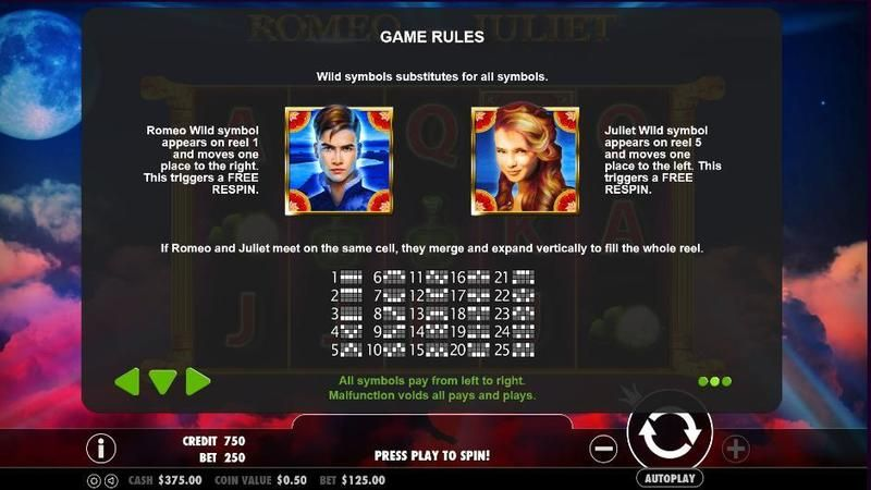 Romeo and Juliet Pragmatic Play Slot Info