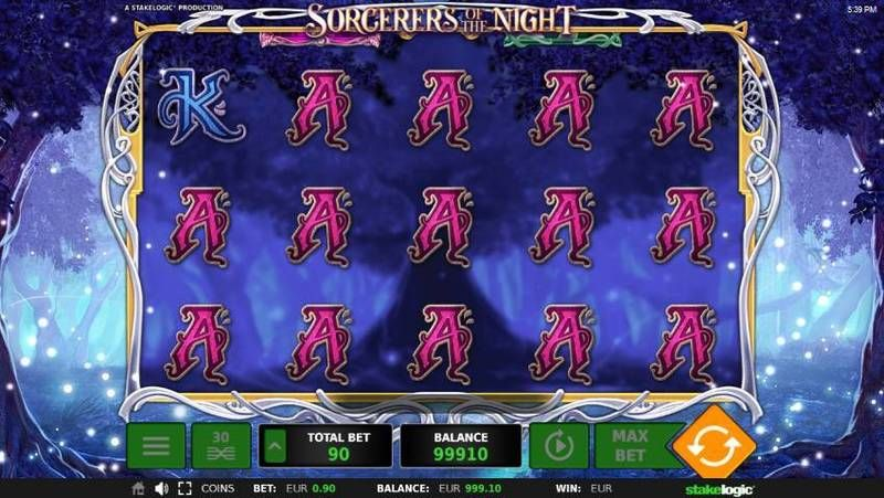 Sorcerers of the Night StakeLogic Slot Slot Reels