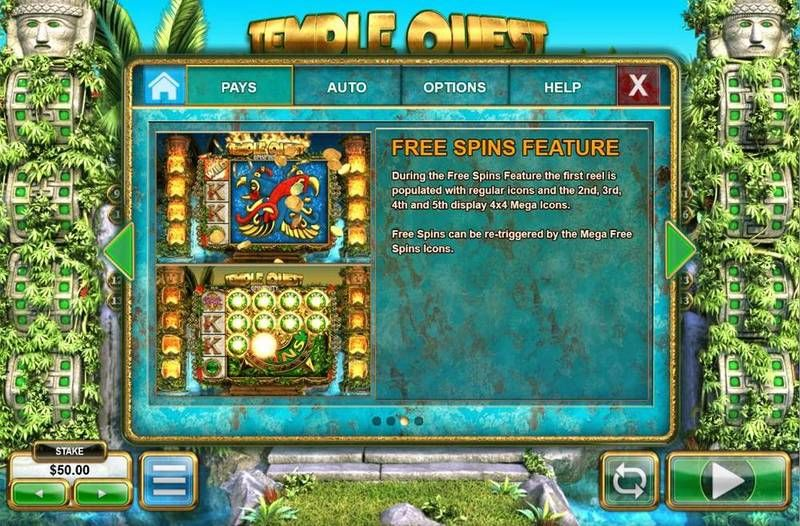 Temple Quest Spinfinity Big Time Gaming Slot Bonus 1