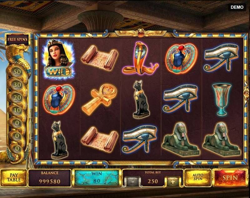The Asp of Cleopatra Red Rake Gaming Slot Paytable