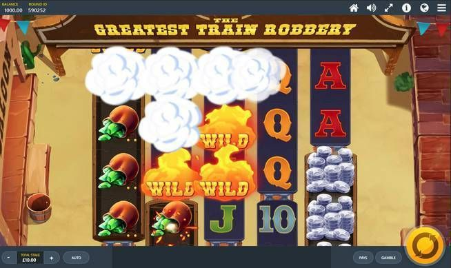 The Greatest Train Robbery Red Tiger Gaming Slot Slot Reels