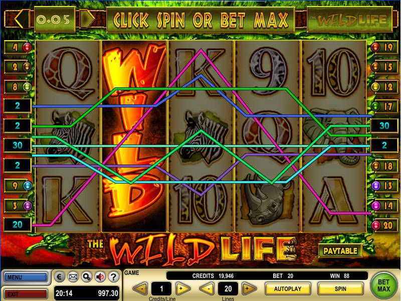 The Wild Life Slot Gtech Free Spins