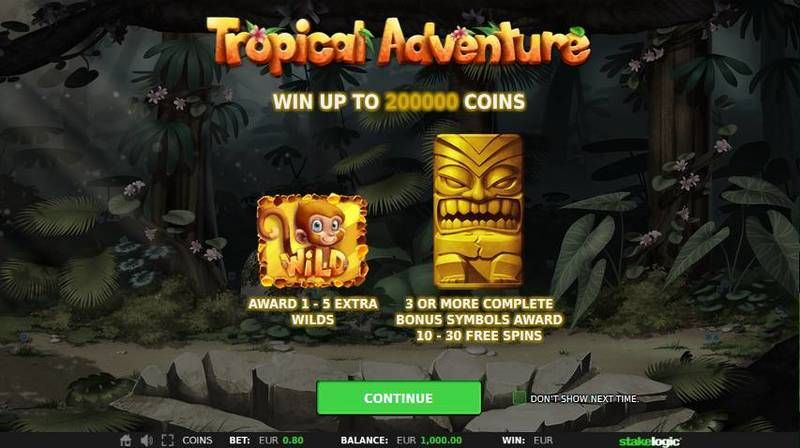 Tropical Adventure StakeLogic Slot Free Spins Feature
