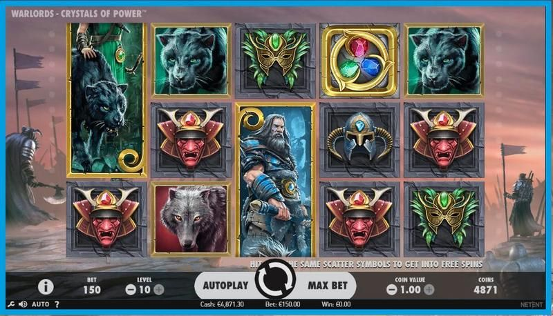 Warlords: Crystals of Power NetEnt Slot Slot Reels