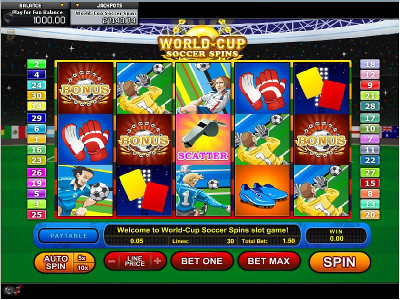 World Cup Soccer Spins GamesOS Slot Slot Reels