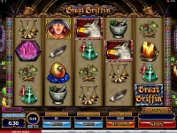 Great Griffin Microgaming slots reels