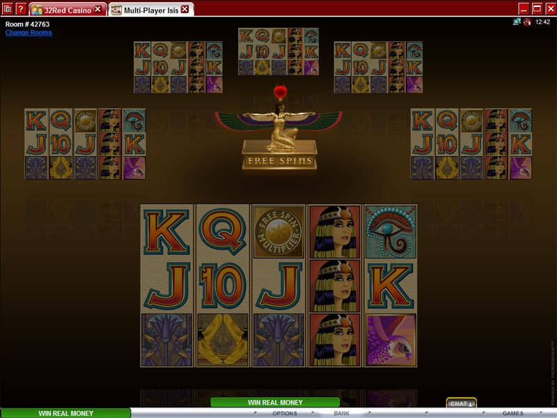 Multi-Player Isis Microgaming slots reels